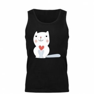 Męska koszulka Cat with a big heart