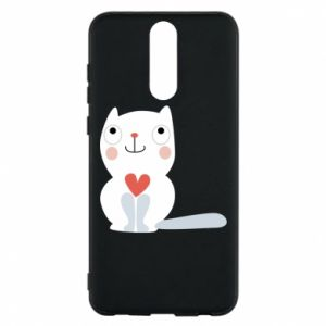 Phone case for Huawei Mate 10 Lite Cat with a big heart - PrintSalon