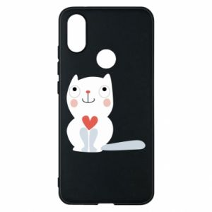 Phone case for Xiaomi Mi A2 Cat with a big heart