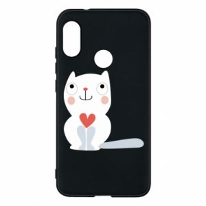 Phone case for Mi A2 Lite Cat with a big heart