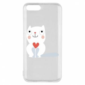 Phone case for Xiaomi Mi6 Cat with a big heart