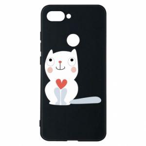 Etui na Xiaomi Mi8 Lite Cat with a big heart