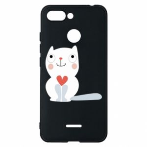 Phone case for Xiaomi Redmi 6 Cat with a big heart