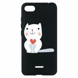 Phone case for Xiaomi Redmi 6A Cat with a big heart