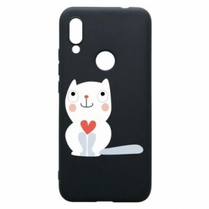 Phone case for Xiaomi Redmi 7 Cat with a big heart