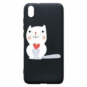 Phone case for Xiaomi Redmi 7A Cat with a big heart