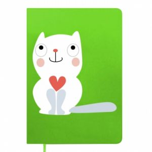 Notepad Cat with a big heart - PrintSalon