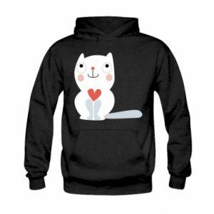 Bluza z kapturem dziecięca Cat with a big heart