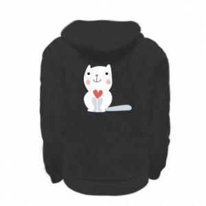 Bluza na zamek dziecięca Cat with a big heart