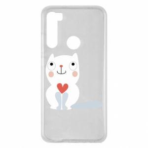 Etui na Xiaomi Redmi Note 8 Cat with a big heart