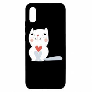Xiaomi Redmi 9a Case Cat with a big heart