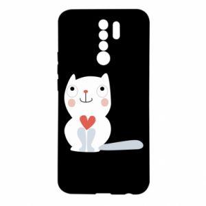 Etui na Xiaomi Redmi 9 Cat with a big heart