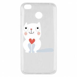 Etui na Xiaomi Redmi 4X Cat with a big heart