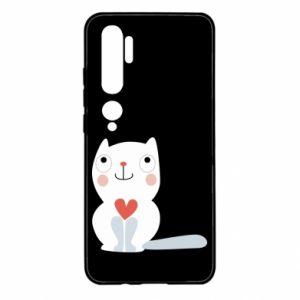 Etui na Xiaomi Mi Note 10 Cat with a big heart
