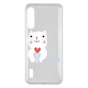 Etui na Xiaomi Mi A3 Cat with a big heart