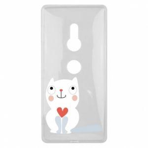 Etui na Sony Xperia XZ2 Cat with a big heart
