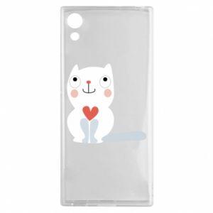 Etui na Sony Xperia XA1 Cat with a big heart