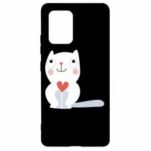 Etui na Samsung S10 Lite Cat with a big heart