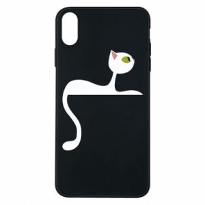 Phone case for iPhone Xs Max Cat with green eyes resting - PrintSalon