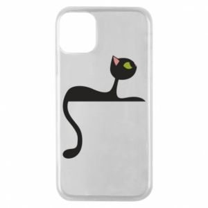 Phone case for iPhone 11 Pro Cat with green eyes resting - PrintSalon
