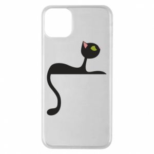 Phone case for iPhone 11 Pro Max Cat with green eyes resting - PrintSalon