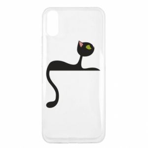 Etui na Xiaomi Redmi 9a Cat with green eyes resting