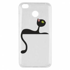 Etui na Xiaomi Redmi 4X Cat with green eyes resting