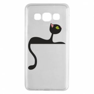 Etui na Samsung A3 2015 Cat with green eyes resting