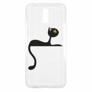 Etui na Nokia 2.3 Cat with green eyes resting