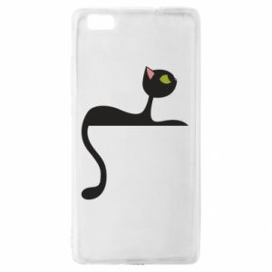 Etui na Huawei P 8 Lite Cat with green eyes resting