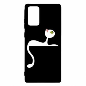 Etui na Samsung Note 20 Cat with green eyes resting