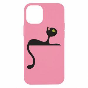 Etui na iPhone 12 Mini Cat with green eyes resting