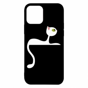 Etui na iPhone 12/12 Pro Cat with green eyes resting