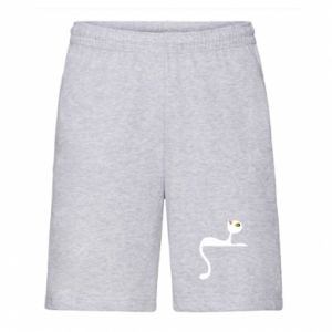 Men's shorts Cat with green eyes resting - PrintSalon