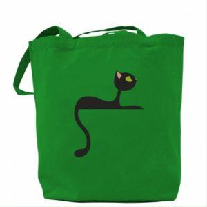 Bag Cat with green eyes resting - PrintSalon