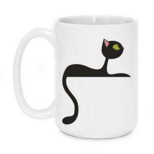 Mug 450ml Cat with green eyes resting - PrintSalon