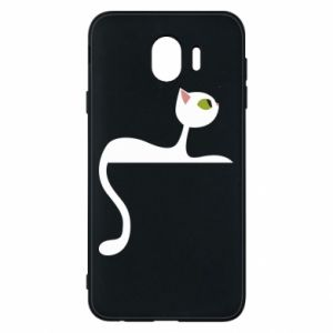 Phone case for Samsung J4 Cat with green eyes resting - PrintSalon