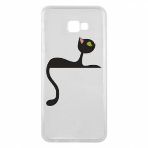 Phone case for Samsung J4 Plus 2018 Cat with green eyes resting - PrintSalon