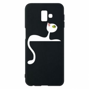 Etui na Samsung J6 Plus 2018 Cat with green eyes resting