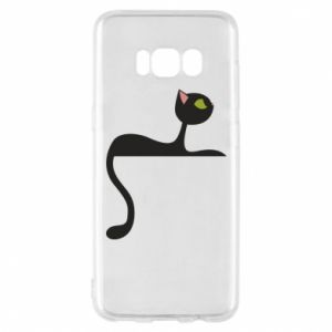 Phone case for Samsung S8 Cat with green eyes resting - PrintSalon