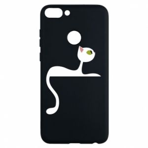 Phone case for Huawei P Smart Cat with green eyes resting - PrintSalon