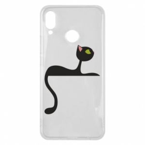 Phone case for Huawei P Smart Plus Cat with green eyes resting - PrintSalon