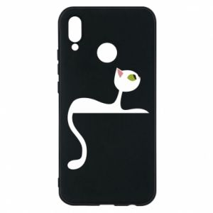 Etui na Huawei P20 Lite Cat with green eyes resting