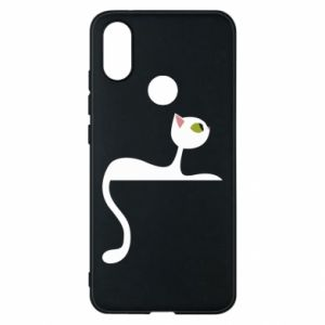 Phone case for Xiaomi Mi A2 Cat with green eyes resting - PrintSalon
