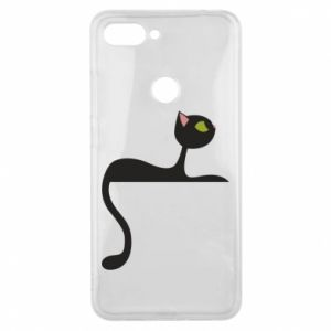 Phone case for Xiaomi Mi8 Lite Cat with green eyes resting - PrintSalon