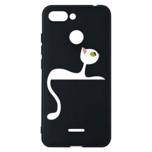 Phone case for Xiaomi Redmi 6 Cat with green eyes resting - PrintSalon