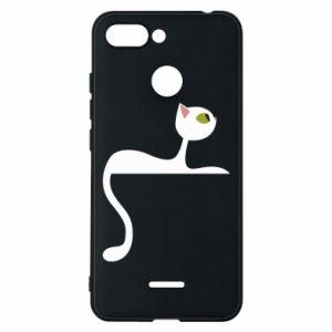 Etui na Xiaomi Redmi 6 Cat with green eyes resting