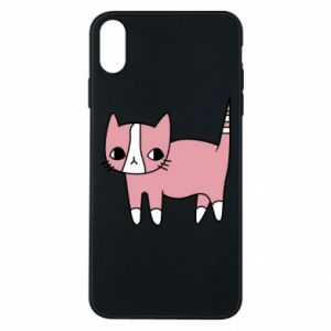 Phone case for iPhone Xs Max Cat with leaves