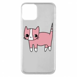 Phone case for iPhone 11 Cat with leaves