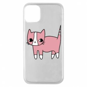 Phone case for iPhone 11 Pro Cat with leaves
